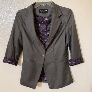 Forever 21 // gray blazer